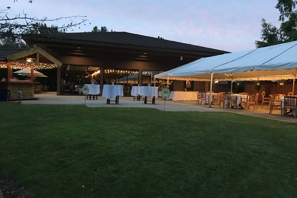 Beautiful evening sunset for wedding receptions in Ann Arbor