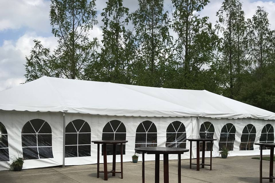 outdoor wedding ceremony tent option