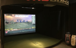 Indoor golf driving range simulator