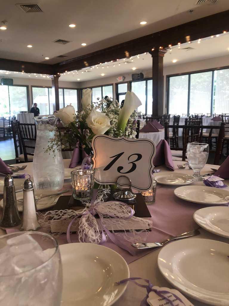 July Wedding Reception