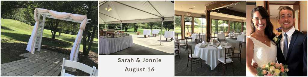 August outdoor wedding in ann arbor