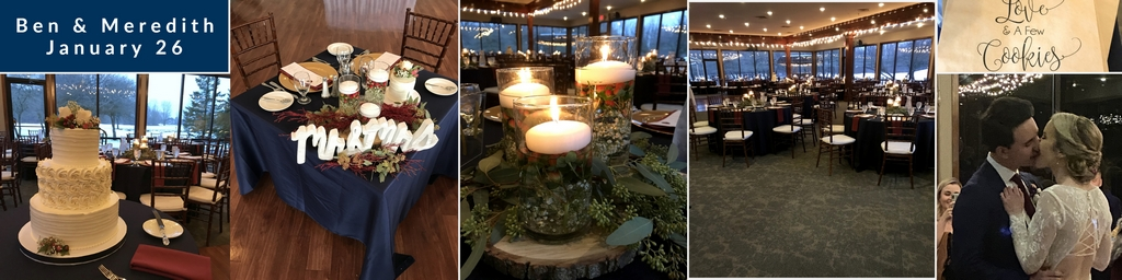 ann arbor golf course winter wedding